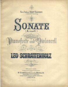 cp - Schrattenholz L. - Cello Sonata in A minor Op.35