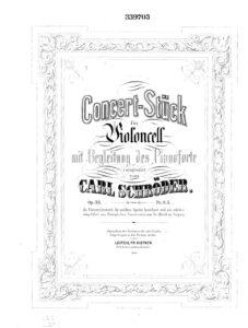 cp - Schroder C. - Konzertstuk Op.38