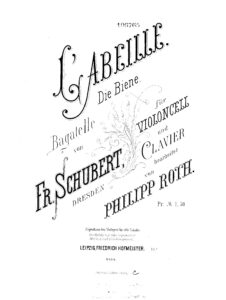 cp - Schubert F. - L'Abeille [The Bee] Bagatelle Op.13 (Roth)