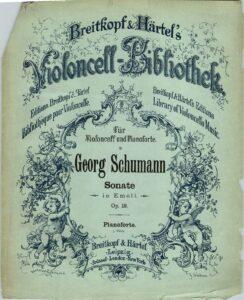 cp - Schumann G. - Cello Sonata in E minor Op.19