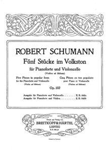 cp - Schumann R. - 5 Pieces in Folk Style Op.102 (B&H)