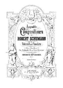 cp - Schumann R. - Abendlied Op.85 No.12 (Grutzmacher)