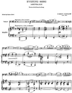 cp - Schumann R. - Evening Song (Borch)