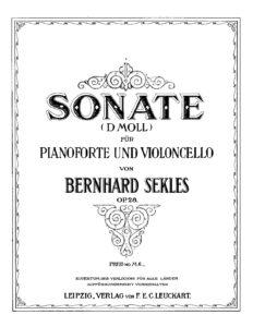 cp - Sekles B. - Cello Sonata Op.28