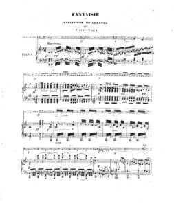cp - Servais F - Fantaisie et Variations Op.4