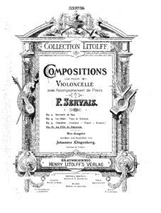 cp - Servais F. - La Fille du Regiment Variations Op.16