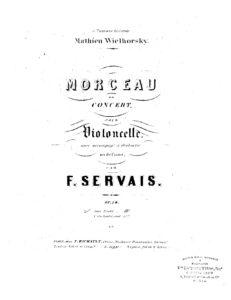 cp - Servais F. - Morceau de concert Op.14
