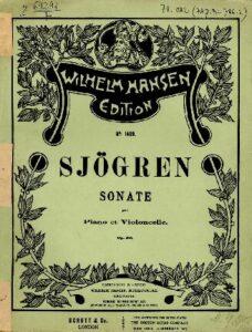 cp - Sjogren E. - Cello Sonata Op.58