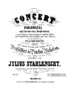cp - Stahlknecht J. - Cello Concerto Op.14