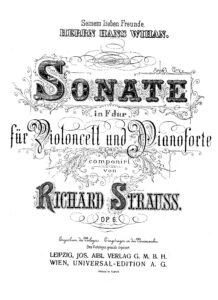 cp - Strauss R. - Sonata in F Op.6