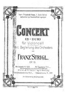 cp - Strigl F. - Cello Concerto Op.13