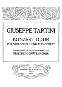 cp - Tartini G. - Concerto in D (Grutzmacher)