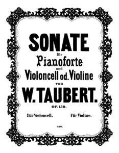 cp - Taubert W. - Sonata Op.150
