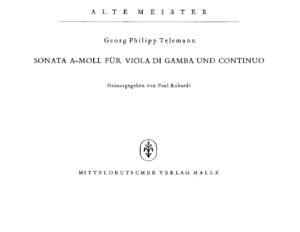 cp - Telemann G.P. - Gamba Sonata in A minor TWV 41;a6
