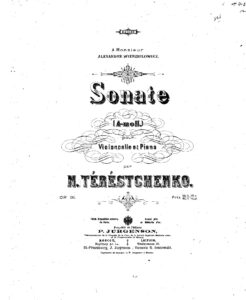 cp - Terestchenko N. - Cello Sonata in A minor Op.31