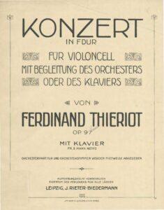 cp - Thieriot F. - Cello Concerto in F Op.97
