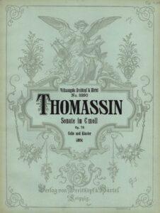 cp - Thomassin D. - Cello Sonata in C minor Op.76 (B&H)