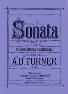 cp - Turner A.D. - Cello Sonata in F