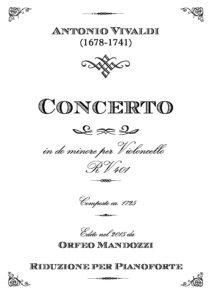 cp - Vivaldi A. - Cello Concerto in C minor RV401 (Mandozzi)