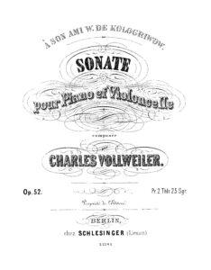 cp - Vollweiler C. - Cello Sonata Op.52