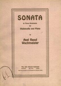 cp - Wachtmeister A.R. - Cello Sonata