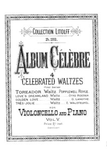 cp - Waldteufel E. - Tres Jolie Waltz Op.159