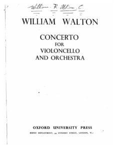 cp - Walton W. - Cello Concerto