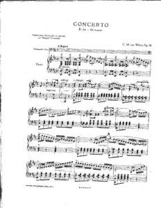 cp - Weber C.M. - Concerto in D Op.74 (Cassado)