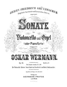 cp - Wermann O. - Sonata for Cello and Organ or Piano Op.58