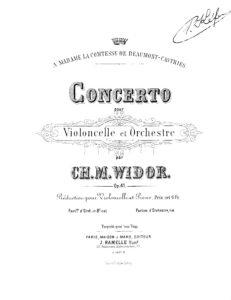 cp - Widor C.M. - Cello Concerto Op.41