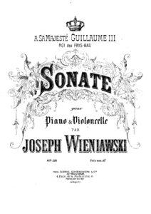 cp - Wieniawski J. - Cello Sonata Op.26