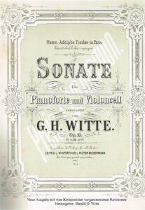 cp - Witte G.H. - Cello Sonata Op15