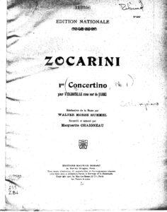 cp - Zocarini M. - Concertino No.1 (Chaigneau)