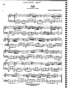 e - Bach J.S - Air from Suite No.3 for Violin and Cello