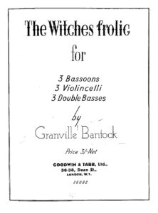 e - Bantock G. - ''The Witches Frolic'' for 3 Cellos