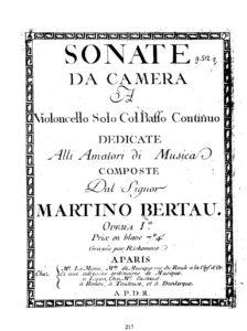 e - Berteau M. - Cello Sonata Op.1