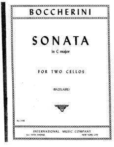 e - Boccherini L. - Sonata in C Major for 2 Cellos