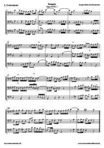 e - Boismortier J. - Sonata Op.8 No.1 for 3 cellos (score)