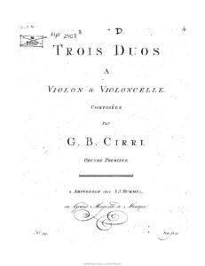 e - Cirri C.B. - Duos Op.1 for Violin and Cello