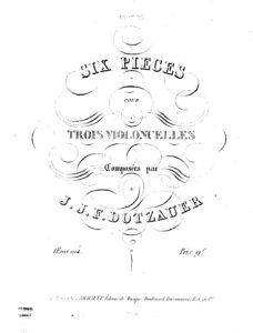e - Dotzauer F. - 6 Pieces for 3 Cellos (parts)