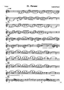 e - Faure G. - Pavane for Violin and Cello