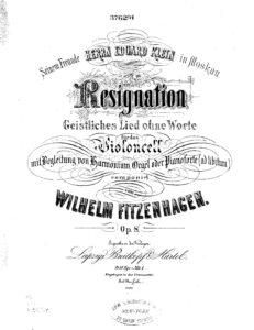 e - Fitzenhagen W. - Resignation for Cello and Organ Op.8