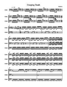 e - Hetfield J., Ulrich L. - Creeping Death for 3 Cellos (Apocalyptica)