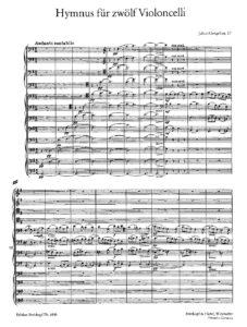 e - Klengel J - Hymnus for 12 Cellos Op.57