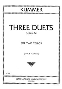 e - Kummer F. - 3 Duos for 2 Cellos Op.22