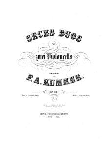 e - Kummer F. - 6 Duos for 2 Cellos Op.156 (Book II, No. 4-6)