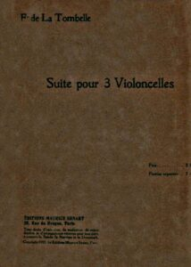 e - La Tombelle F. - Suite for 3 Cellos (score and parts)