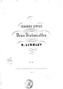 e - Lindley R. - 3 Duos for 2 Cellos