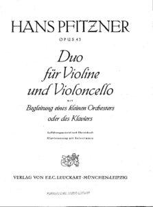 e - Pfitzner H. - Duo for Violin, Cello and Orchestra Op.43