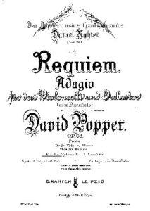 e - Popper D. - Requiem for 3 Cellos and Piano Op.66